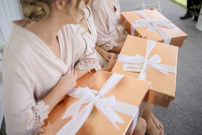 Bridesmaid Gift Boxes from a Minimal & Elegant Oceanside Wedding on Kara's Party Ideas | KarasPartyIdeas.com (39)