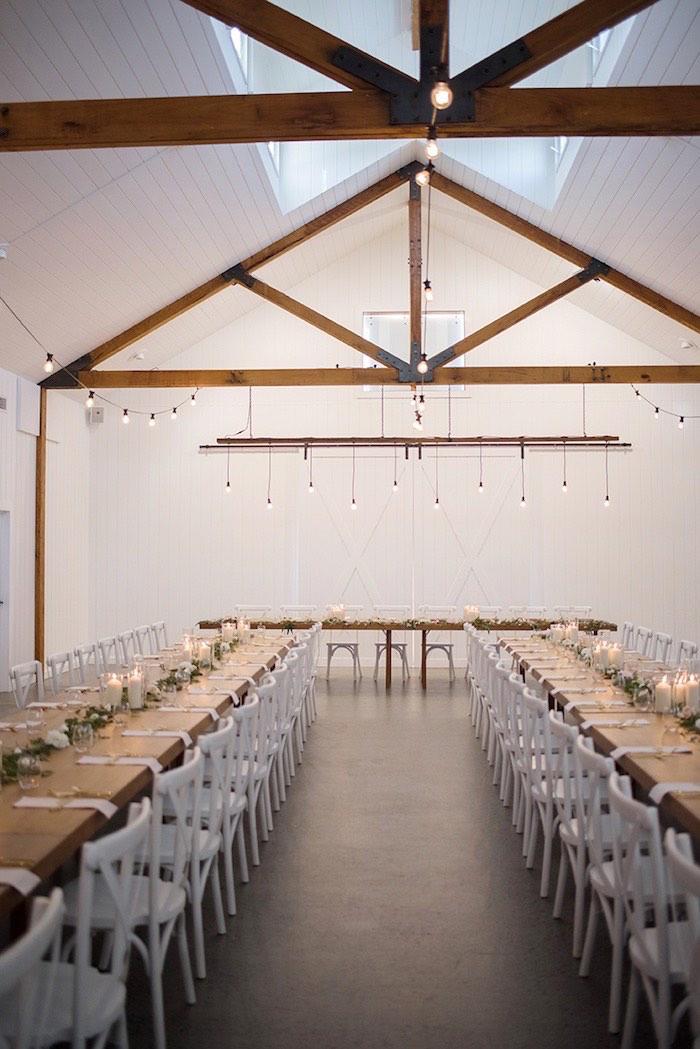 Dining Tables + Dinner Venue from a Minimal & Elegant Oceanside Wedding on Kara's Party Ideas | KarasPartyIdeas.com (21)