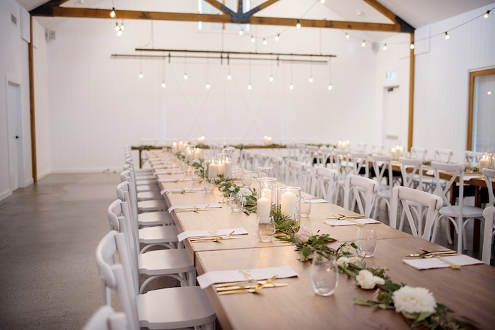 Candlelit Dining Tablescape from a Minimal & Elegant Oceanside Wedding on Kara's Party Ideas | KarasPartyIdeas.com (19)
