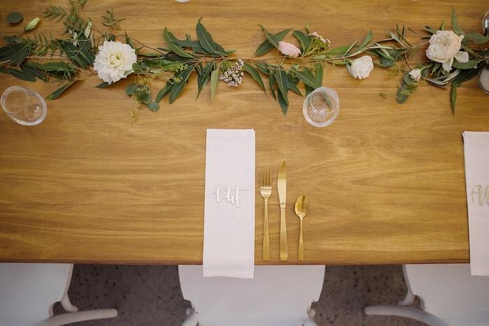 Table Setting from a Minimal & Elegant Oceanside Wedding on Kara's Party Ideas | KarasPartyIdeas.com (18)