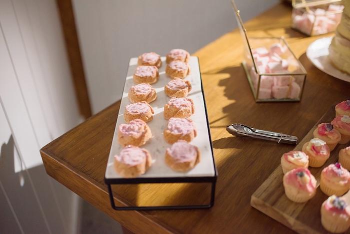Dessert Tray from a Minimal & Elegant Oceanside Wedding on Kara's Party Ideas | KarasPartyIdeas.com (12)
