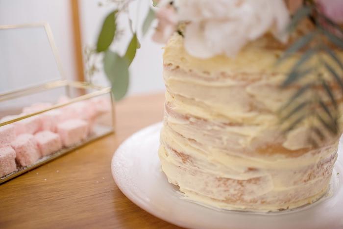 Rustic Wedding Cake from a Minimal & Elegant Oceanside Wedding on Kara's Party Ideas | KarasPartyIdeas.com (9)