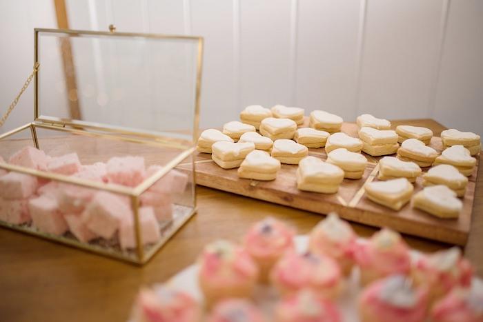 Heart-shaped Cookies from a Minimal & Elegant Oceanside Wedding on Kara's Party Ideas | KarasPartyIdeas.com (6)