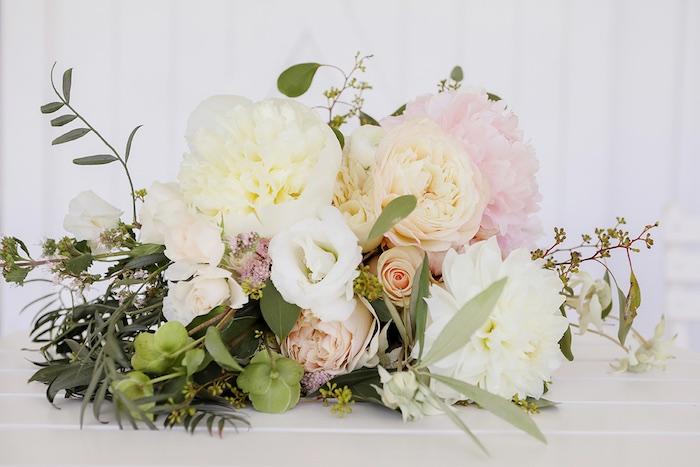 Bridal Bouquet from a Minimal & Elegant Oceanside Wedding on Kara's Party Ideas | KarasPartyIdeas.com (43)