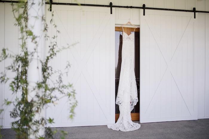 Wedding Gown from a Minimal & Elegant Oceanside Wedding on Kara's Party Ideas | KarasPartyIdeas.com (41)