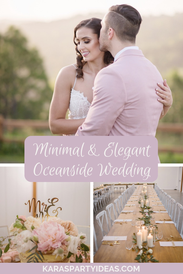 Minimal Elegant Oceanside Wedding via KarasPartyIdeas - KarasPartyIdeas.com