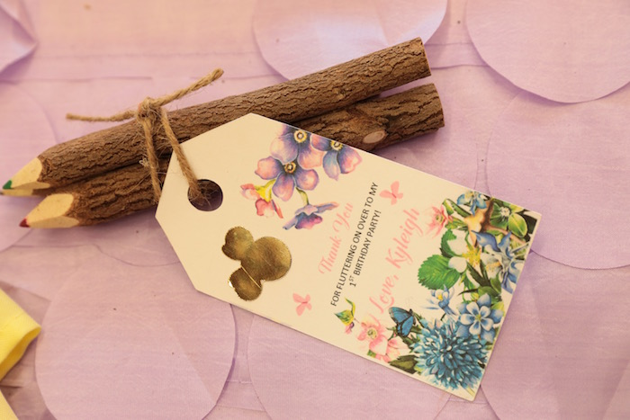 Twig Colored Pencil Favors from a Minnie Mouse Enchanted Garden Party on Kara's Party Ideas | KarasPartyIdeas.com (9)