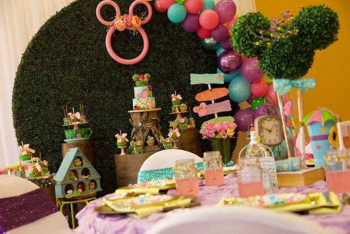 Minnie Mouse Enchanted Garden Party on Kara's Party Ideas | KarasPartyIdeas.com (7)