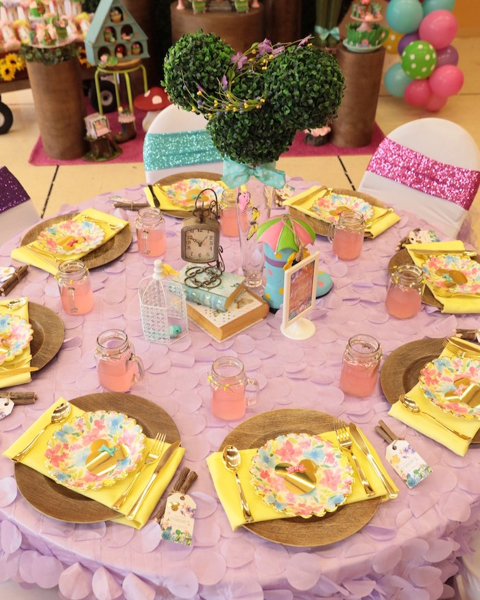 Minnie Mouse Garden Guest Table from a Minnie Mouse Enchanted Garden Party on Kara's Party Ideas | KarasPartyIdeas.com (5)