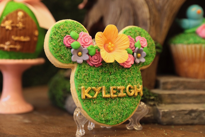 Minnie Mouse Garden Cookie from a Minnie Mouse Enchanted Garden Party on Kara's Party Ideas | KarasPartyIdeas.com (19)