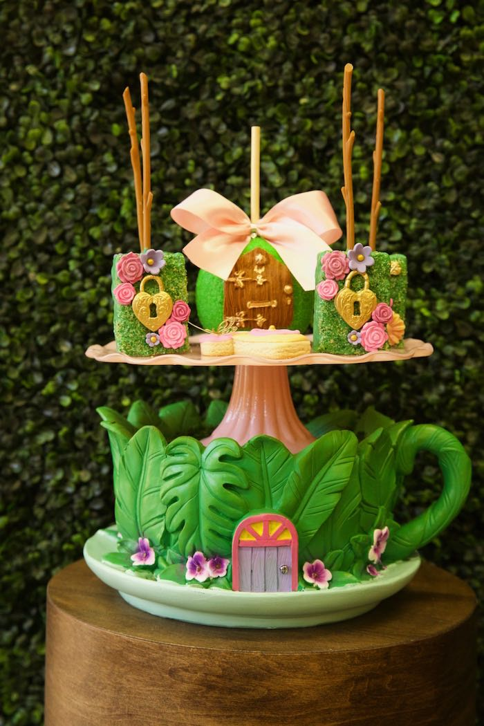Enchanted Garden Sweets from a Minnie Mouse Enchanted Garden Party on Kara's Party Ideas | KarasPartyIdeas.com (15)