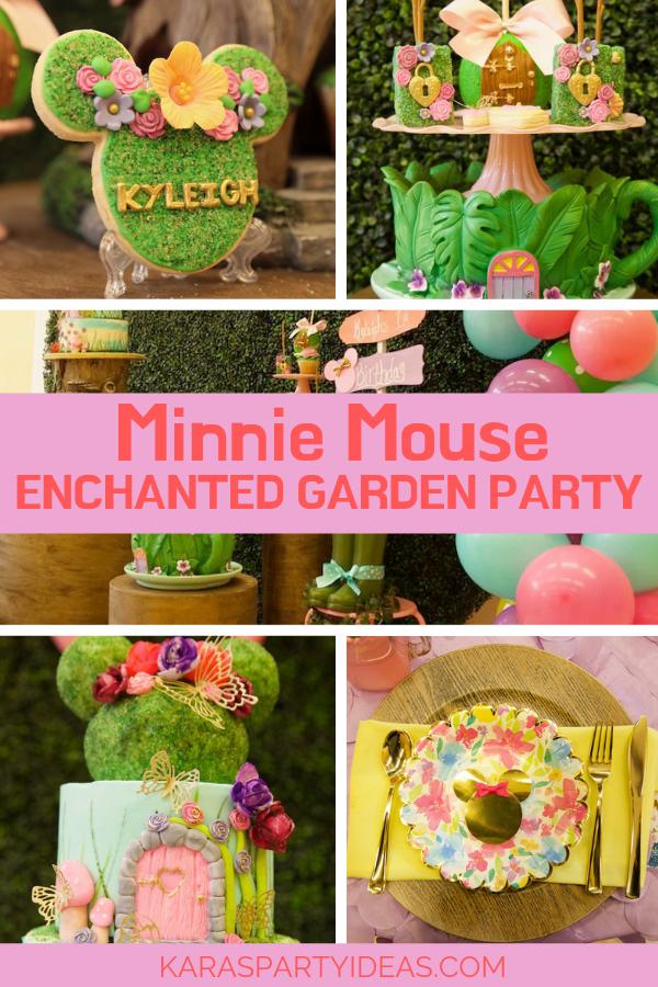 Minnie Mouse Enchanted Garden Party via Kara's Party Ideas - KarasPartyIdeas.com
