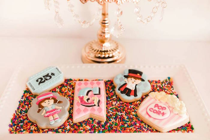 Circus Themed Sugar Cookies from a Modern Classic Circus Party on Kara's Party Ideas | KarasPartyIdeas.com (31)