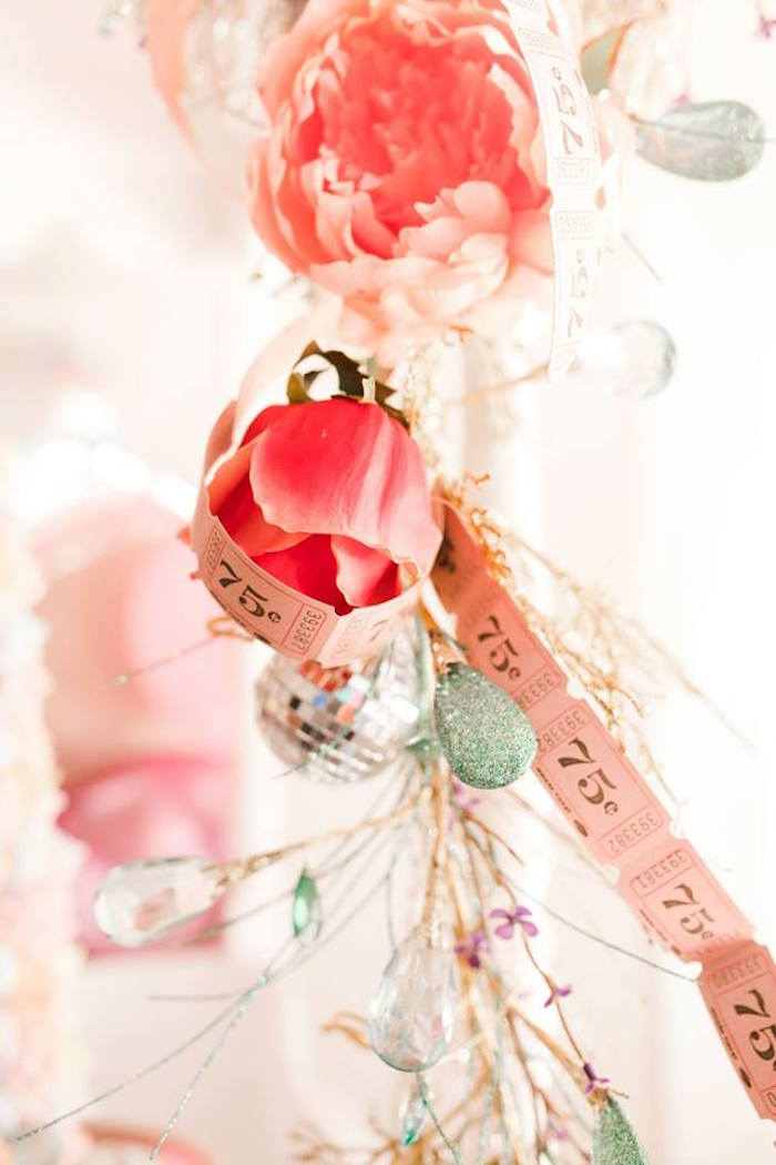 Rose Ticket Garland from a Modern Classic Circus Party on Kara's Party Ideas | KarasPartyIdeas.com (44)