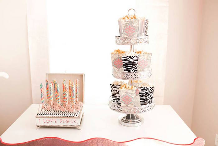 Circus Lollipops and Cotton Candy Boxes from a Modern Classic Circus Party on Kara's Party Ideas | KarasPartyIdeas.com (17)