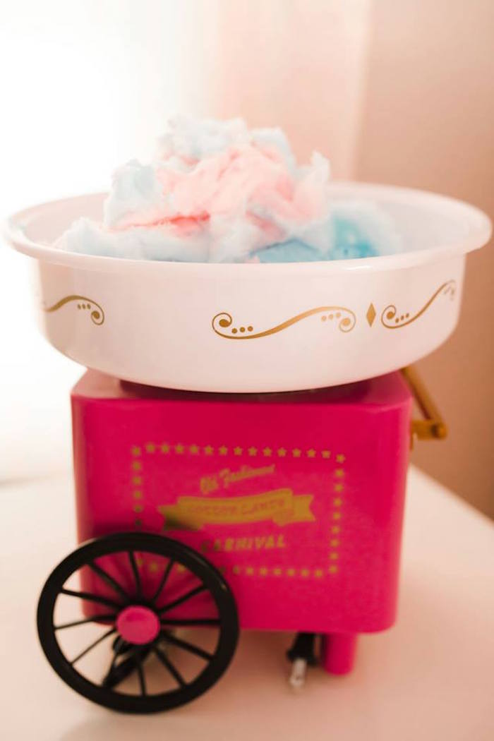 Mini Cotton Candy Machine from a Modern Classic Circus Party on Kara's Party Ideas | KarasPartyIdeas.com (13)