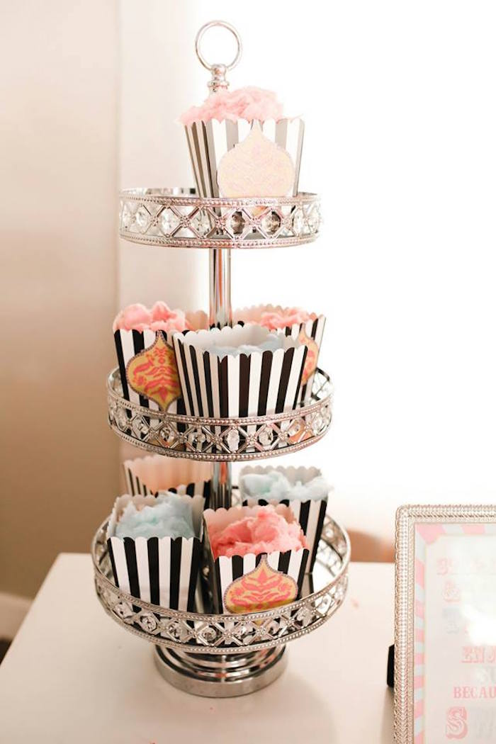 Striped Cotton Candy Boxes from a Modern Classic Circus Party on Kara's Party Ideas | KarasPartyIdeas.com (10)