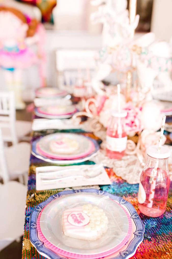 Circus Party Table from a Modern Classic Circus Party on Kara's Party Ideas | KarasPartyIdeas.com (6)