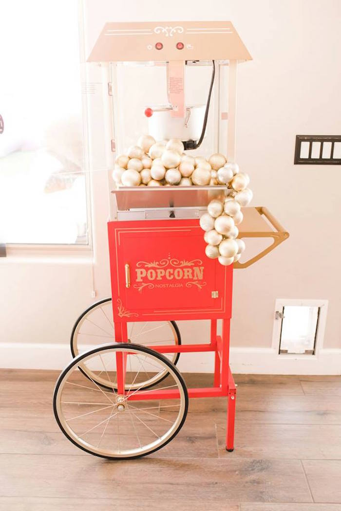 Glam Popcorn Machine from a Modern Classic Circus Party on Kara's Party Ideas | KarasPartyIdeas.com (40)