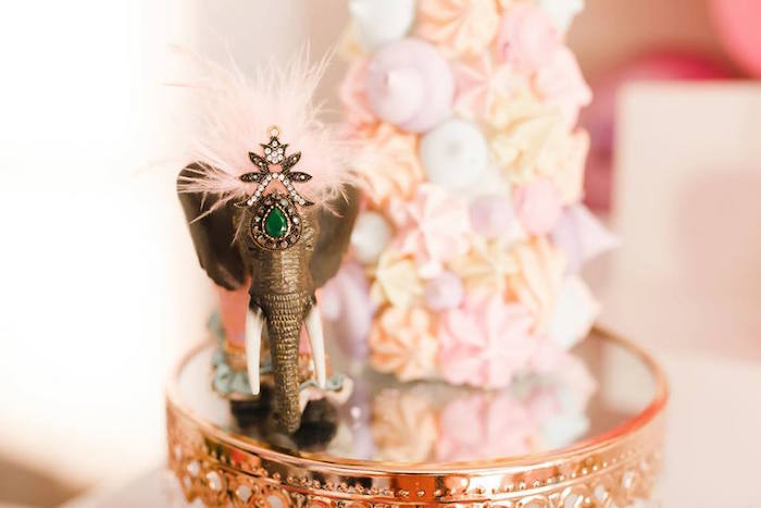 Circus Elephant Table Centerpiece from a Modern Classic Circus Party on Kara's Party Ideas | KarasPartyIdeas.com (38)