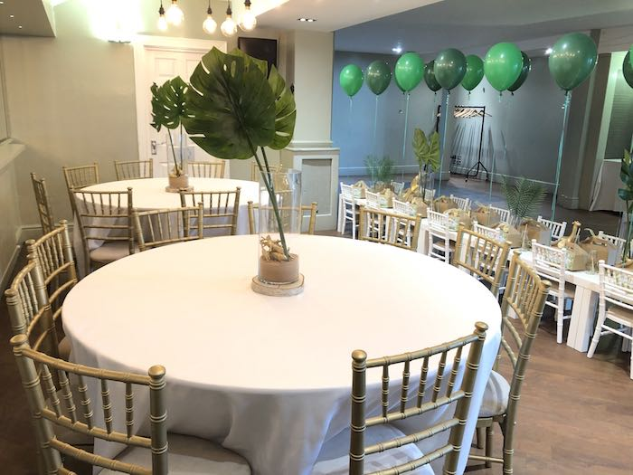 Jungle-inspired Guest Tables from a Modern Jungle Birthday Party on Kara's Party Ideas | KarasPartyIdeas.com (16)