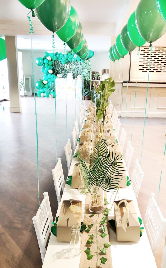 Jungle Themed Kid Table from a Modern Jungle Birthday Party on Kara's Party Ideas | KarasPartyIdeas.com (18)