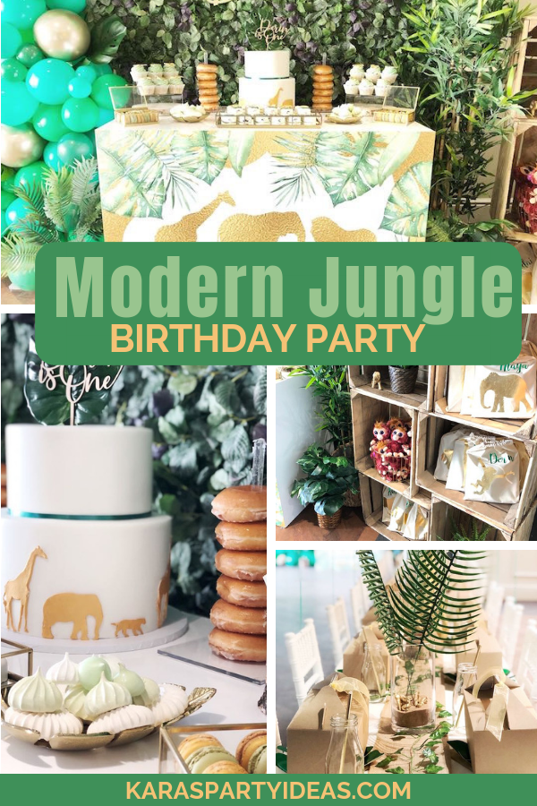 Modern Jungle Birthday Party via Kara's Party Ideas - KarasPartyIdeas.com