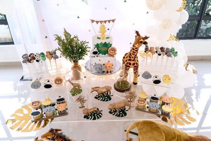 Safari Sweet Table from a Modern Safari 100 Days Party on Kara's Party Ideas | KarasPartyIdeas.com (18)