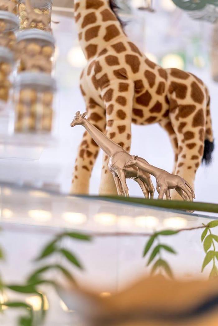 Gold Giraffes from a Modern Safari 100 Days Party on Kara's Party Ideas | KarasPartyIdeas.com (16)