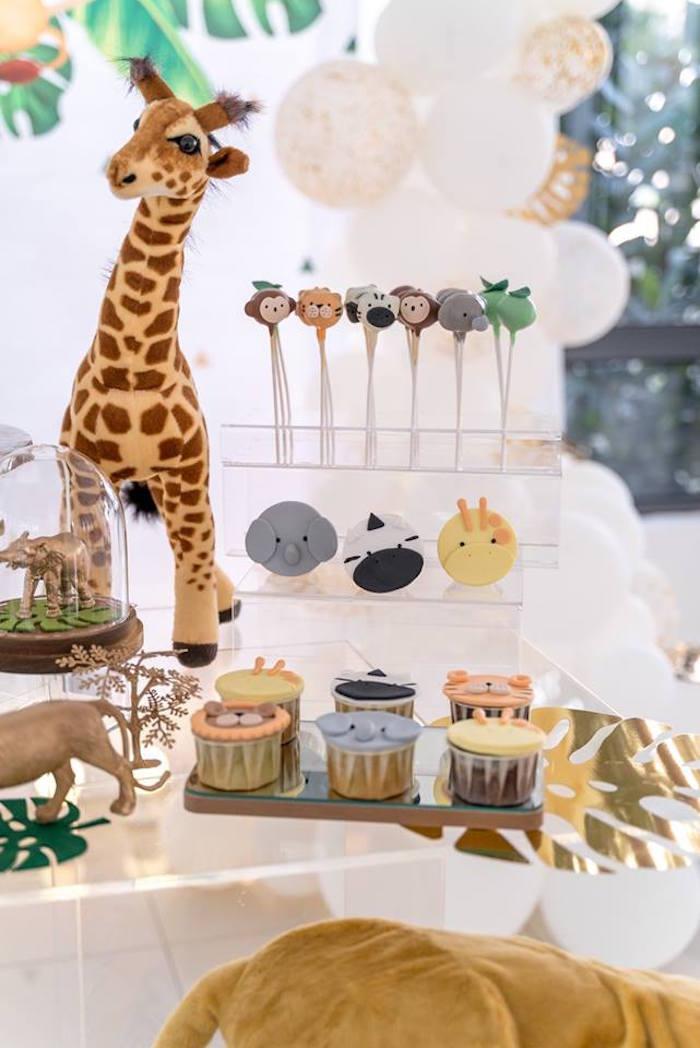 Safari Themed Sweet Table from a Modern Safari 100 Days Party on Kara's Party Ideas | KarasPartyIdeas.com (5)