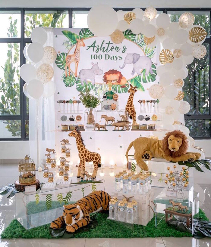 Modern Safari 100 Days Party on Kara's Party Ideas | KarasPartyIdeas.com (24)