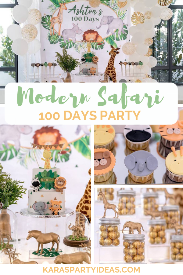 Modern Safari 100 Days Party via Kara's Party Ideas - KarasPartyIdeas.com