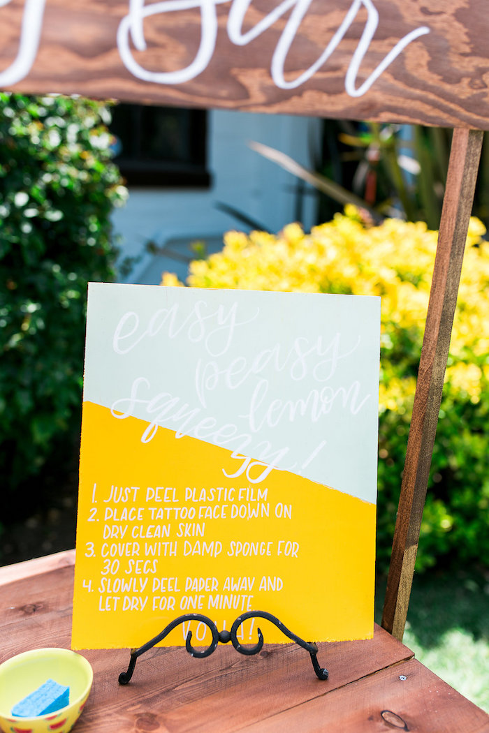 Modern & Bright Party Signage from a Modern Two-tti Fruit-i Pool Party on Kara's Party Ideas | KarasPartyIdeas.com (27)