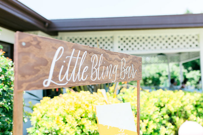 Little Bling Bar from a Modern Two-tti Fruit-i Pool Party on Kara's Party Ideas | KarasPartyIdeas.com (25)