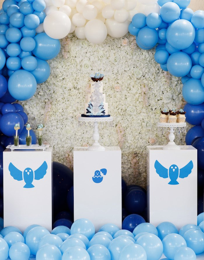 Blue Bird-inspired Pedestal Sweet Spread from a Mommy & Me Garden Party on Kara's Party Ideas | KarasPartyIdeas.com (37)