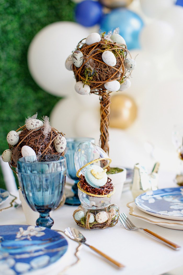 Bird Nest-inspired Table Centerpieces from a Mommy & Me Garden Party on Kara's Party Ideas | KarasPartyIdeas.com (31)