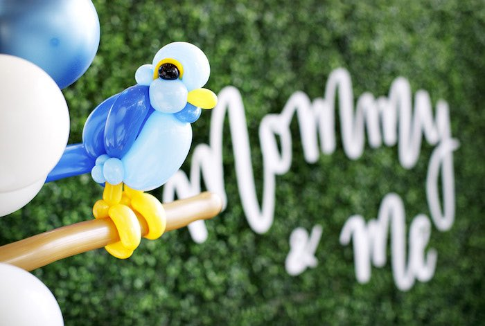Perched Balloon Bird from a Mommy & Me Garden Party on Kara's Party Ideas | KarasPartyIdeas.com (29)