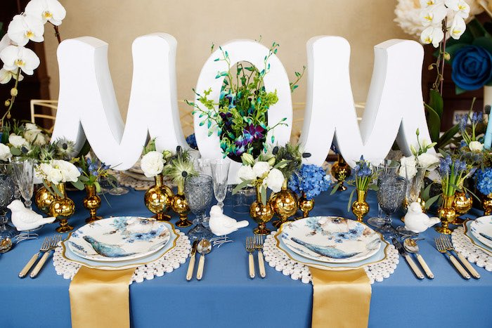 """Mom"" Dining Table from a Mommy & Me Garden Party on Kara's Party Ideas 