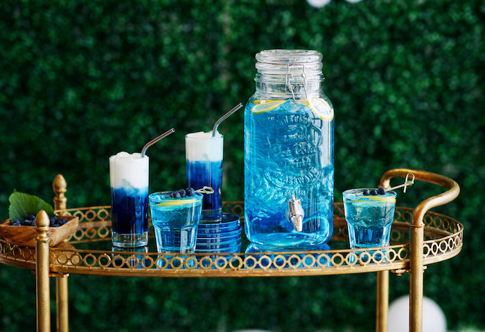 Garden-inspired Kid Beverage Bar from a Mommy & Me Garden Party on Kara's Party Ideas | KarasPartyIdeas.com (46)