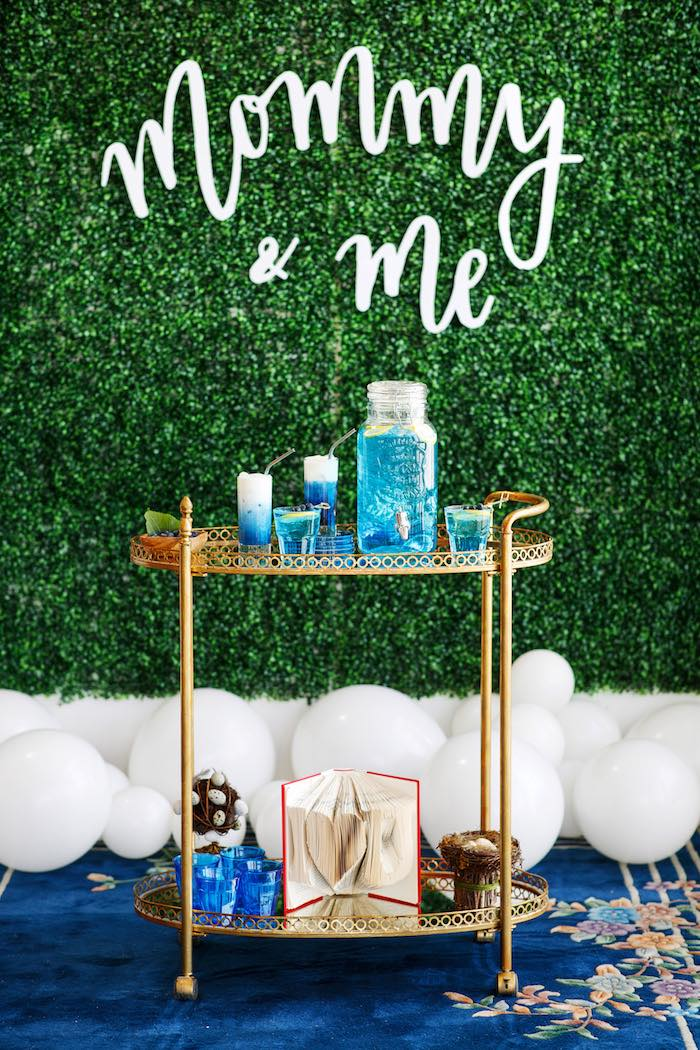 Mommy & Me-inspired Kid-friendly Beverage Bar from a Mommy & Me Garden Party on Kara's Party Ideas | KarasPartyIdeas.com (45)