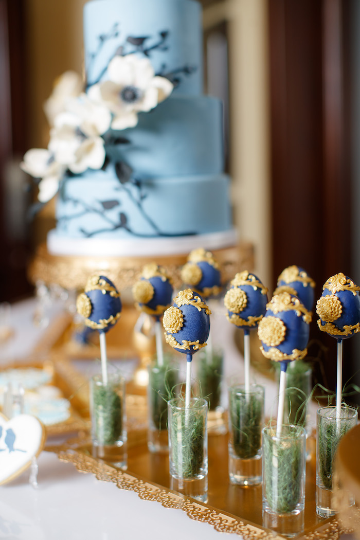 Ornate Egg Cake Pops from a Mommy & Me Garden Party on Kara's Party Ideas | KarasPartyIdeas.com (8)