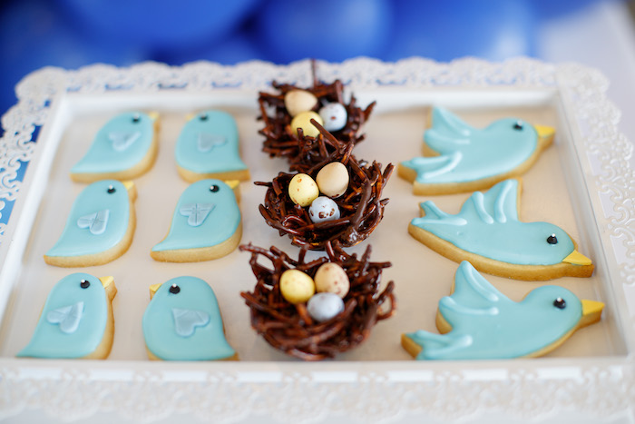 Blue Bird Cookies + Nest Desserts from a Mommy & Me Garden Party on Kara's Party Ideas | KarasPartyIdeas.com (42)