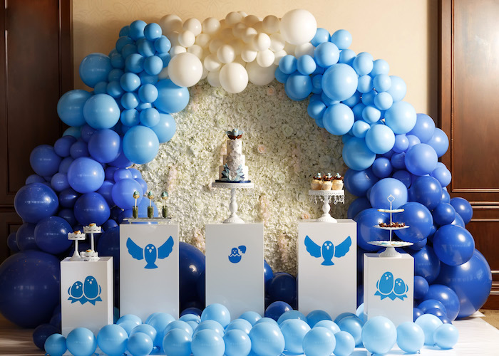 Blue Bird-inspired Pedestal Sweet Spread from a Mommy & Me Garden Party on Kara's Party Ideas | KarasPartyIdeas.com (40)