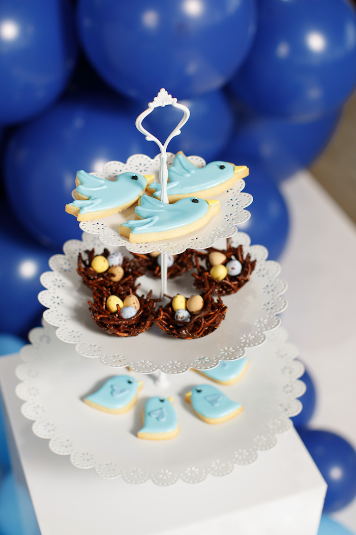 Blue Bird Cookies + Nest Desserts from a Mommy & Me Garden Party on Kara's Party Ideas | KarasPartyIdeas.com (39)