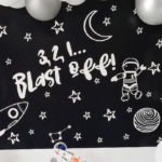 Monochromatic Space Rocket Party on Kara's Party Ideas | KarasPartyIdeas.com (1)