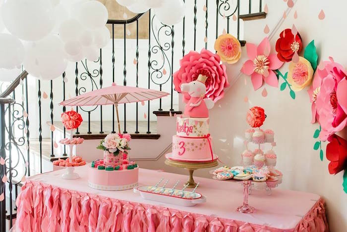 Pink Peppa Pig Dessert Table from a Peppa Pig Birthday Party on Kara's Party Ideas | KarasPartyIdeas.com (31)