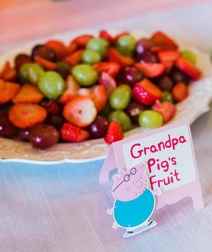 Grandpa Pig's Fruit from a Peppa Pig Birthday Party on Kara's Party Ideas | KarasPartyIdeas.com (30)