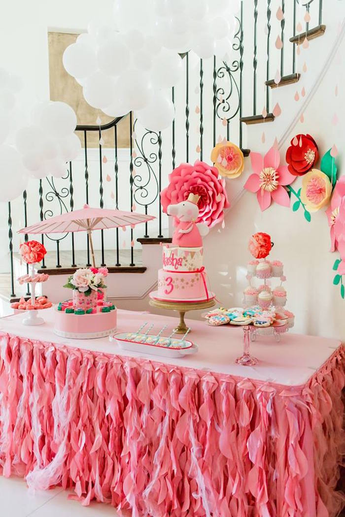Pink Peppa Pig Dessert Table from a Peppa Pig Birthday Party on Kara's Party Ideas | KarasPartyIdeas.com (20)