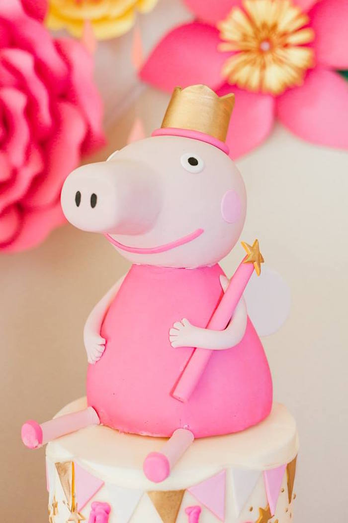 Fine Karas Party Ideas Peppa Pig Birthday Party Karas Party Ideas Funny Birthday Cards Online Overcheapnameinfo