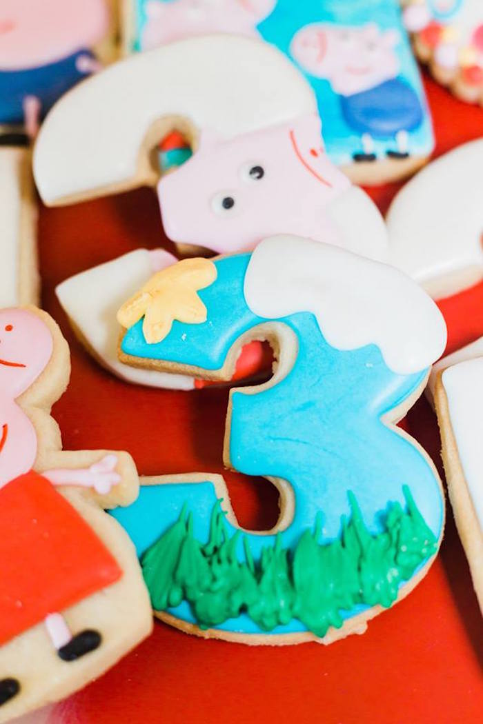 Peppe Pig-inspired Sugar Cookie from a Peppa Pig Birthday Party on Kara's Party Ideas | KarasPartyIdeas.com (10)